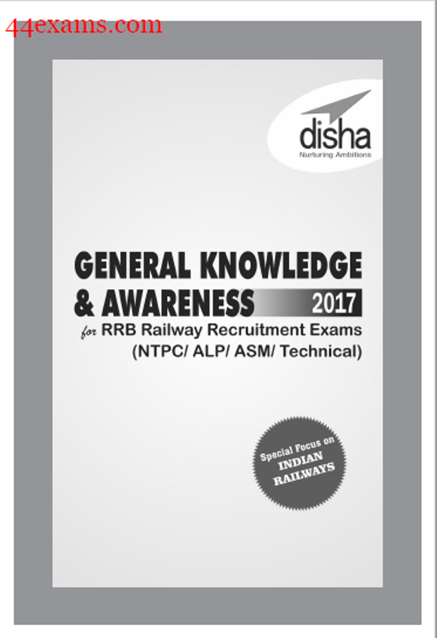 General Knowledge & Awareness By Disha Publication : For RRB NTPC Exam PDF Book