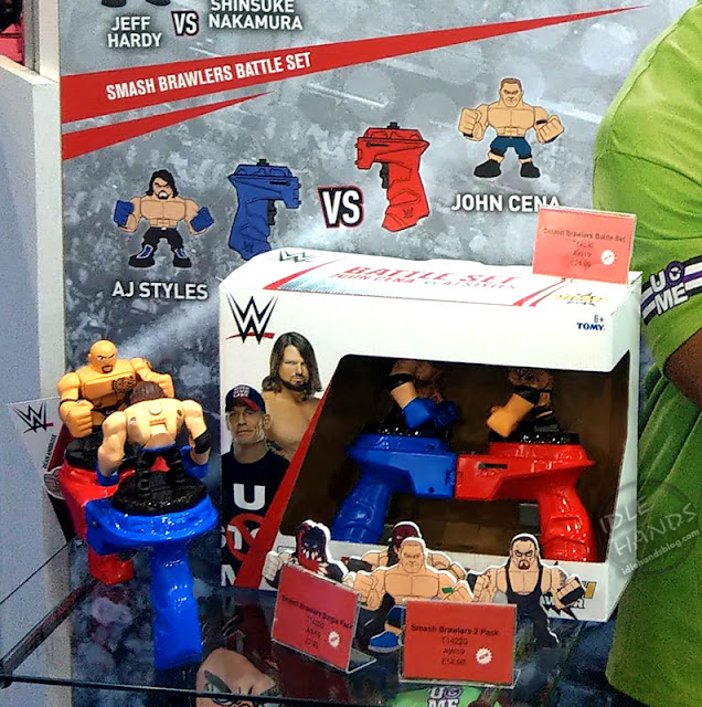 UK Toy Fair 2019 TOMY WWE Smash Brawlers Battle Set 01