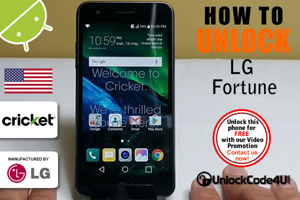 Factory Unlock Code LG Fortune from Cricket