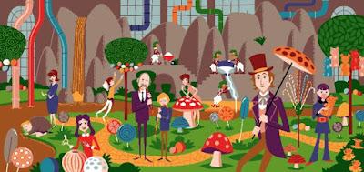 Willy Wonka & The Chocolate Factory Regular Edition Screen Print by SHAG x Dark Hall Mansion