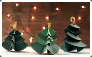 Renkli Kartondan Çam Ağacı Yapımı, Resimli Açıklamalı