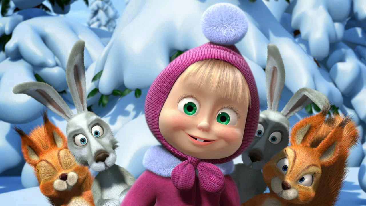 Wallpaper Atau DP BBM Masha And The Bear Terbaru Khusus Android 2015