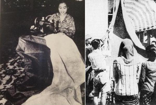 fatmawati menjahit bendera pusaka