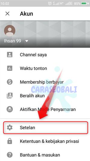 menghapus riwayat pencarian di youtube android