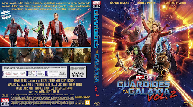 Capa Bluray Guardiões Da Galáxia Vol 2 [Exclusiva]