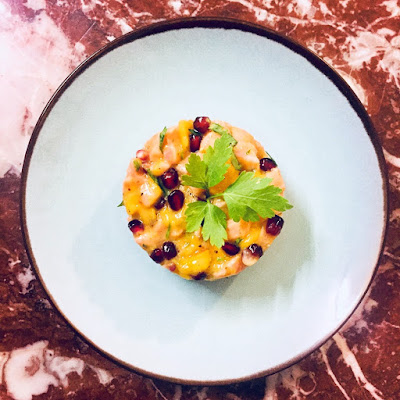 recette tartare saumon mangue grenade facile