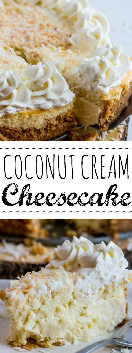 ★★★★☆ 7561 ratings | COCONUT CREAM CHEESECAKE #HEALTHYFOOD #EASYRECIPES #DINNER #LAUCH #DELICIOUS #EASY #HOLIDAYS #RECIPE #COCONUT #CREAM #CHEESECAKE