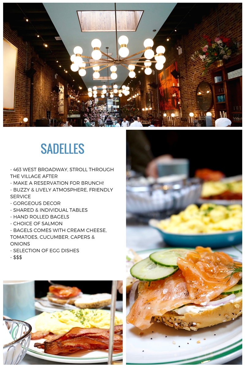 Sadelles New york brunch