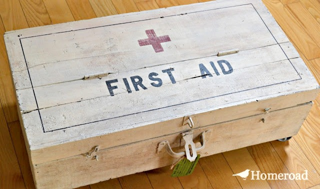 diy first aid footlocker