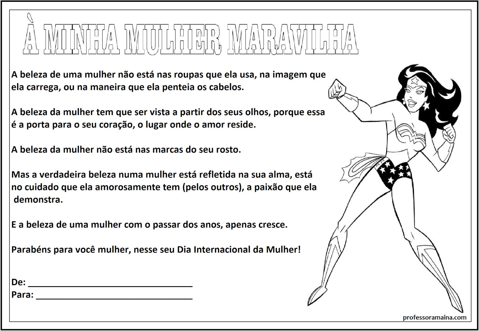 Professora Maína: Mensagens Para O Dia Da Mulher