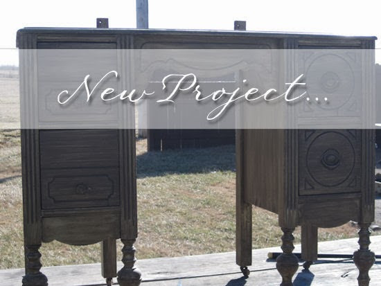 Antique Vanity gets a makeover using paint
