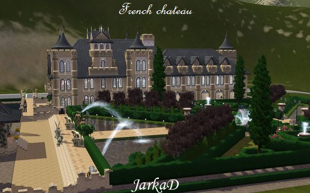 my sims 3 blog french chateau by jarkad. Black Bedroom Furniture Sets. Home Design Ideas