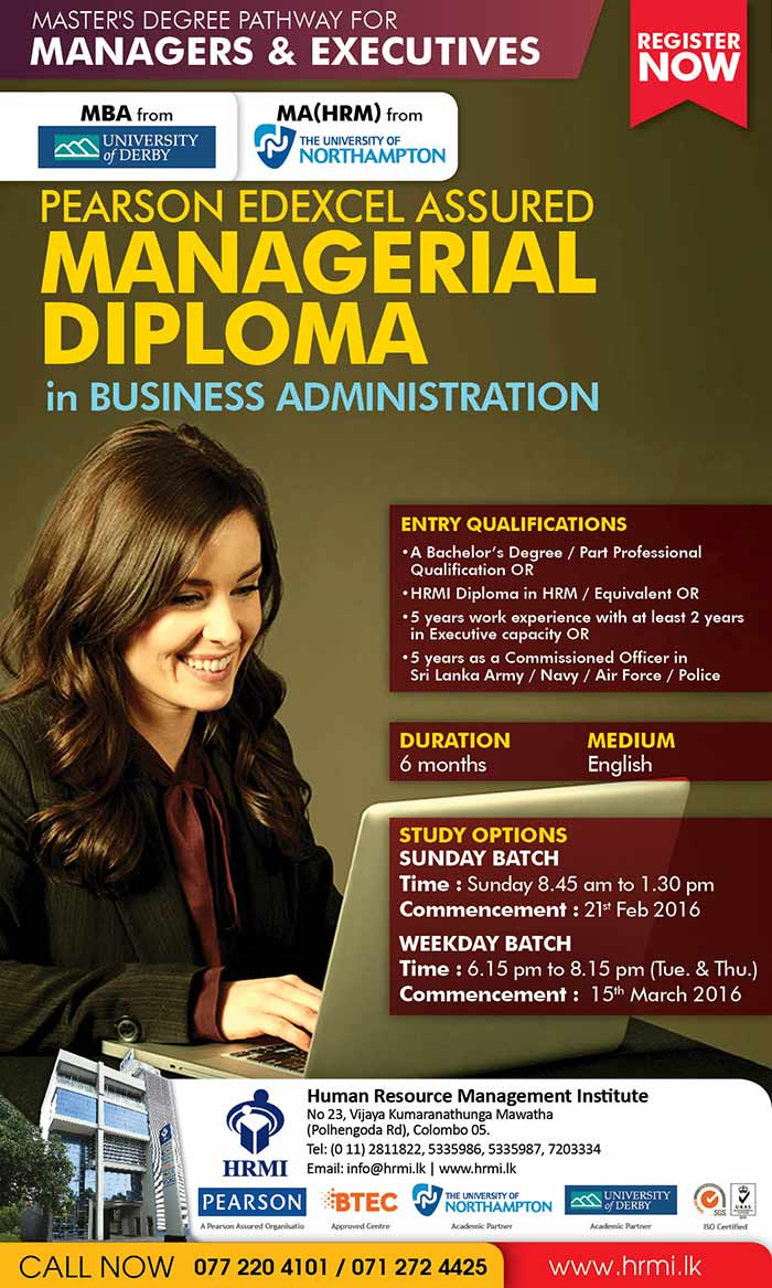 Develop the next generation of Business Leaders in Sri Lanka' by bringing together professionals, the academia and global qualifications.