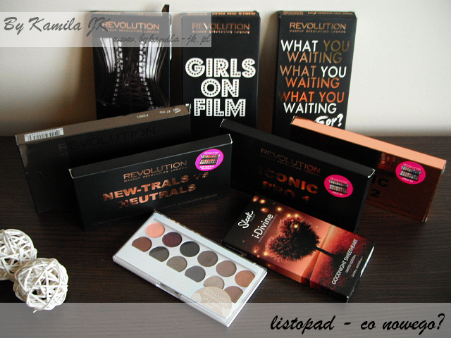 Paleta Makeup Revolution MURWelcome to the Pleasuredom Girls on Film What You Waiting For Affirmation New-Trals vs Neutrals Iconic Pro Sleek Goodnight Sweetheart MUA Romantic Efflorescence
