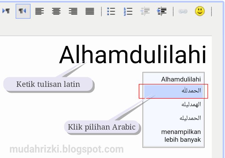 Cara Merubah Tulisan Huruf Latin Ke Arab Yang Benar Di