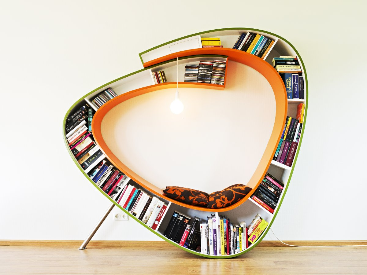 Cardboard Yin Yang Bookshelves !! Home Decor
