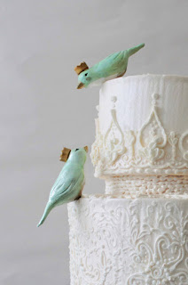Charming Bird Wedding Cake Topper
