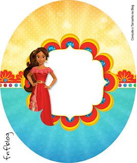 Toppers o Etiquetas de Fiesta de Elena de Avalor para Imprimir Gratis.
