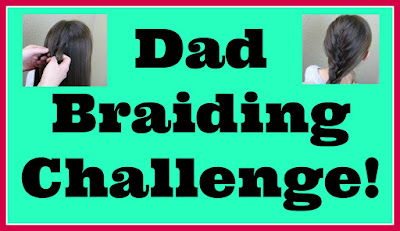 Dad braiding, hairstyling challenge