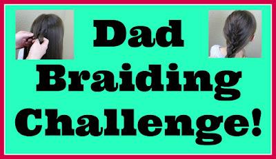 Dad braiding, hairstyling challenge