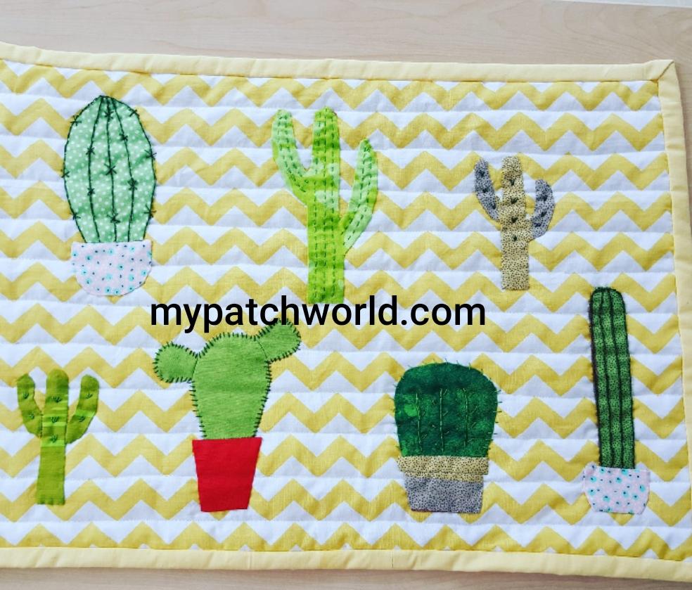 cactus mini quilt