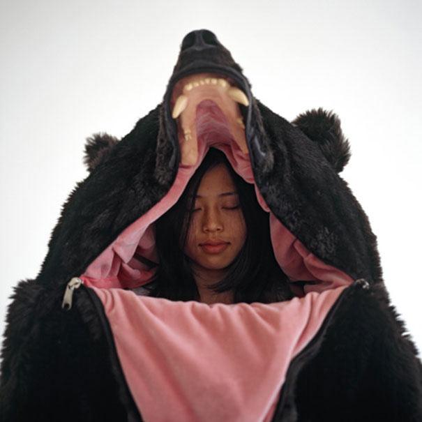 Bolsa de dormir Oso es perfecto para asustar a la masa mientras duermes