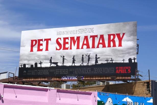 Pet Sematary movie remake billboard