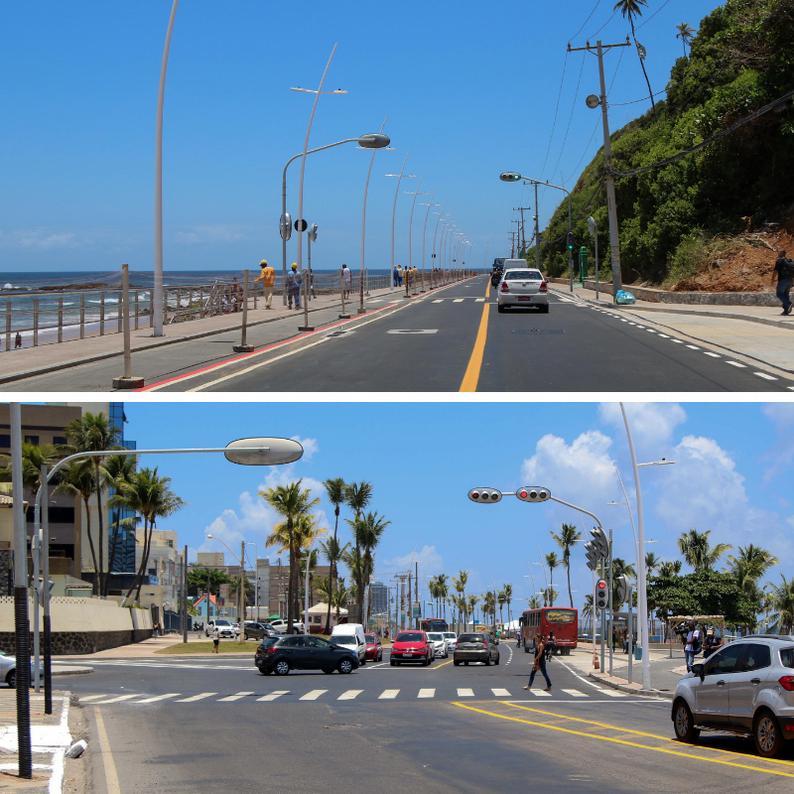 Liberado tráfego no trecho em obras Ondina - Rio Vermelho