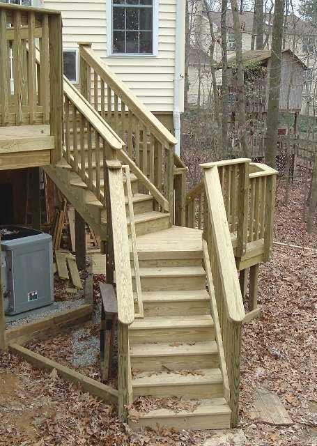 Deck Stairs Design - AyanaHouse