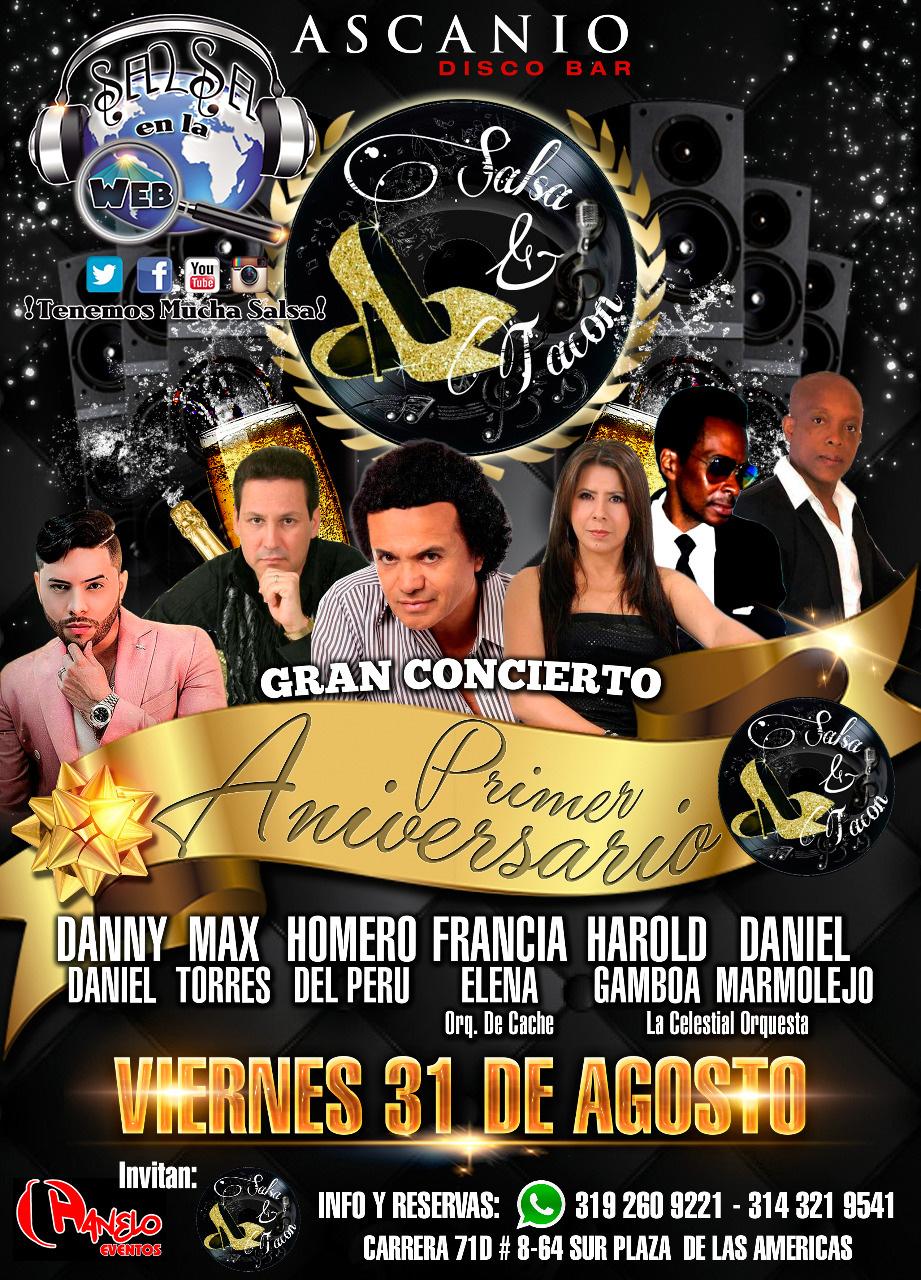 ► Homero, Francia Elena, La Celestial, Max Torres y Danny Daniel en Concierto