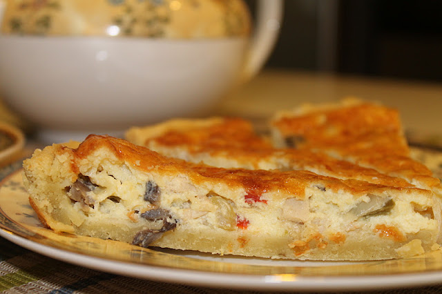 Chicken Mushroom Quiche Azie Kitchen
