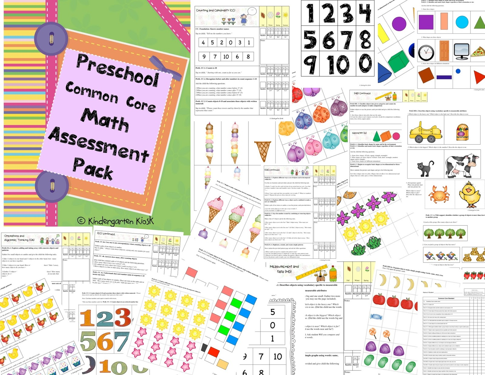 Kindergarten Kiosk Preschool Common Core Assessments