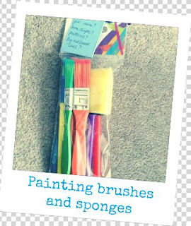 paintbrushes and sponges