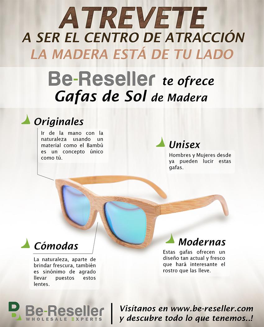 Gafas de madera Be-reseller