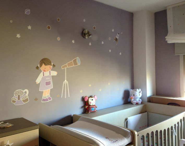 Vinilos infantiles personalizados for Vinilos habitacion nina