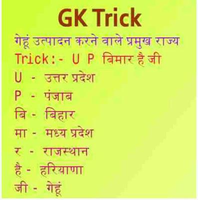 gk short tricks hindi