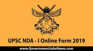 UPSC NDA I Online Form 2019 - 392 Post - Apply Now