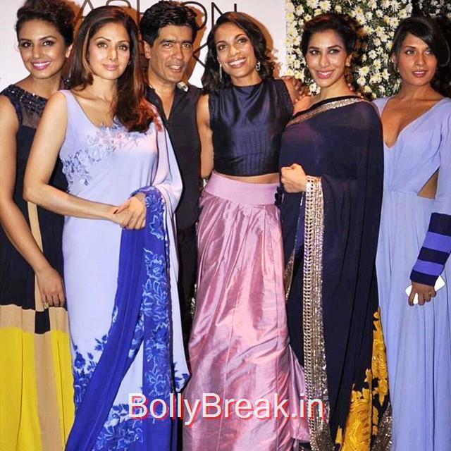 manish malhotra , lakme ,fashionweek lfw , lakme , lfw 2015 , huma qureshi , sridevi , sophie choudry , richa chadda , bollywood , blogg er , igers , india , love , fashion , couture , smile , hair , gorgeous ,, Sridevi, Kajol, Deepika, Neha at Manish Malhotra's show at LFW 2015