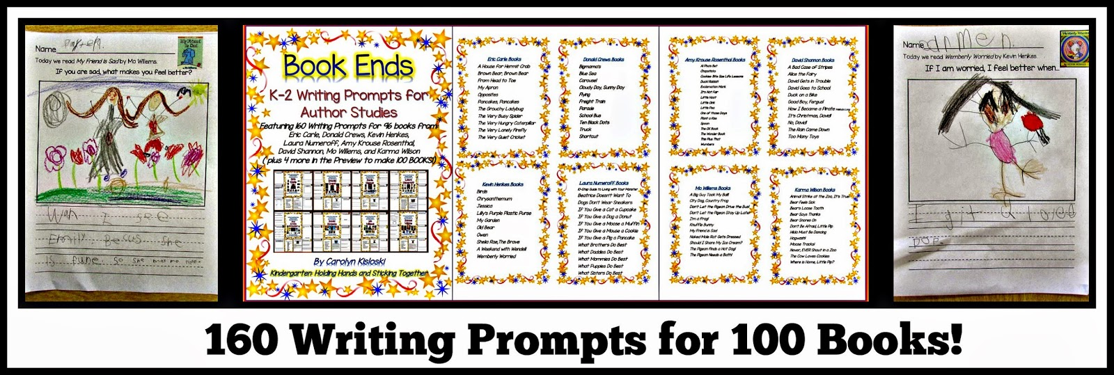 https://www.teacherspayteachers.com/Product/Author-Study-Writing-Prompt-Packet-Featuring-Books-by-8-Authors-1527372