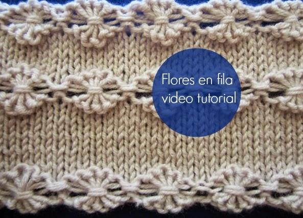 Flores en fila de crochet como se hacen