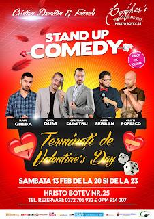 Stand-Up Comedy Sambata 13 Februarie Bucuresti-show de Valentine's Day