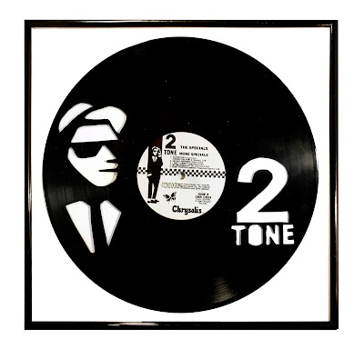 2 Tone Art on Vinyl Portrait