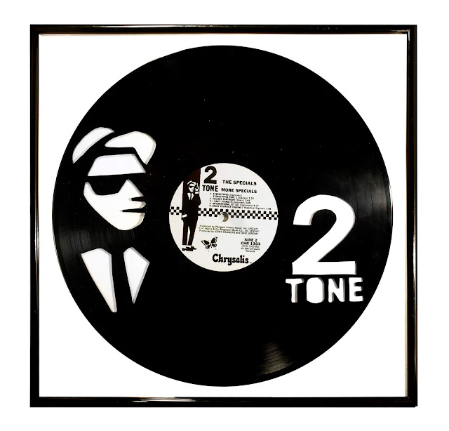 2 Tone Art on Vinyl Portrait