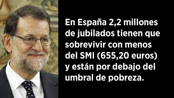 Cuatro de cada diez jubilados españoles sobreviven con menos del salario mínimo
