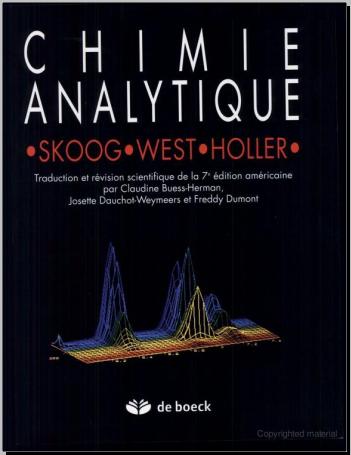 Livre : Chimie analytique, De Boeck Supérieur - Douglas A. Skoog PDF