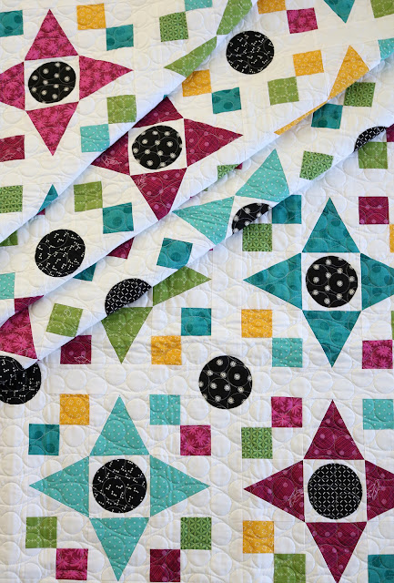 Game Night quilt pattern found in the Fresh Fat Quarter Quilts book by Andy Knowlton of A Bright Corner