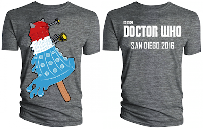 "San Diego Comic-Con 2016 Exclusive Doctor Who ""Bomb Pop Dalek"" T-Shirt by The BBC Store"