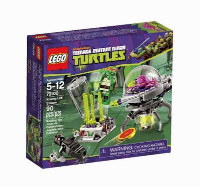 JUGUETES - LEGO Tortugas Ninja  79100 Huida del Laboratorio del Kraang   Producto Oficial | Piezas: 90 | Edad: 5-12 años