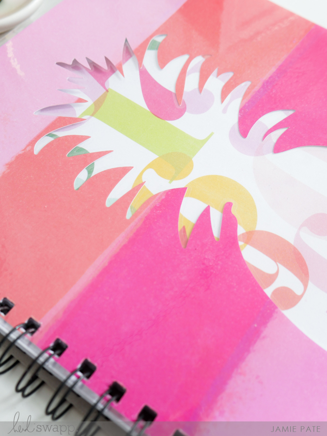 Craft a Little Pineapple Love Notebook by Jamie Pate for Heidi Swapp | @jamiepate for @heidiswapp