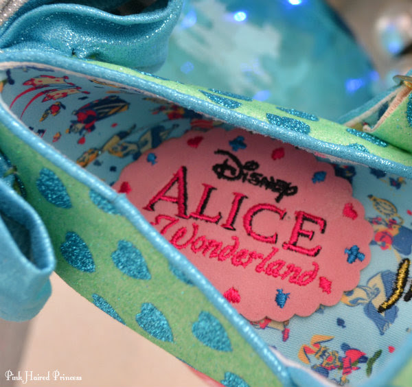 Irregular Choice Alice patterned insole and branding inside shoe